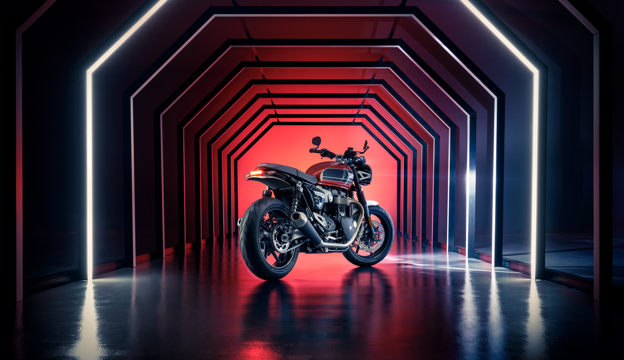 Triumphant…the Speed Twin 2019 launch