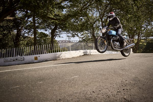 Freddie gets some air at Ballaugh