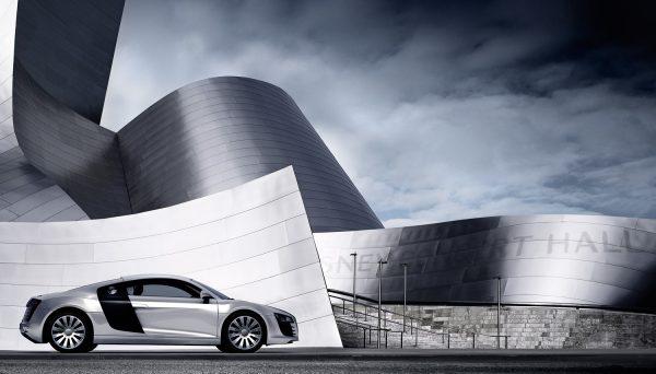 Backplate shot in LA, CGI Audi R8